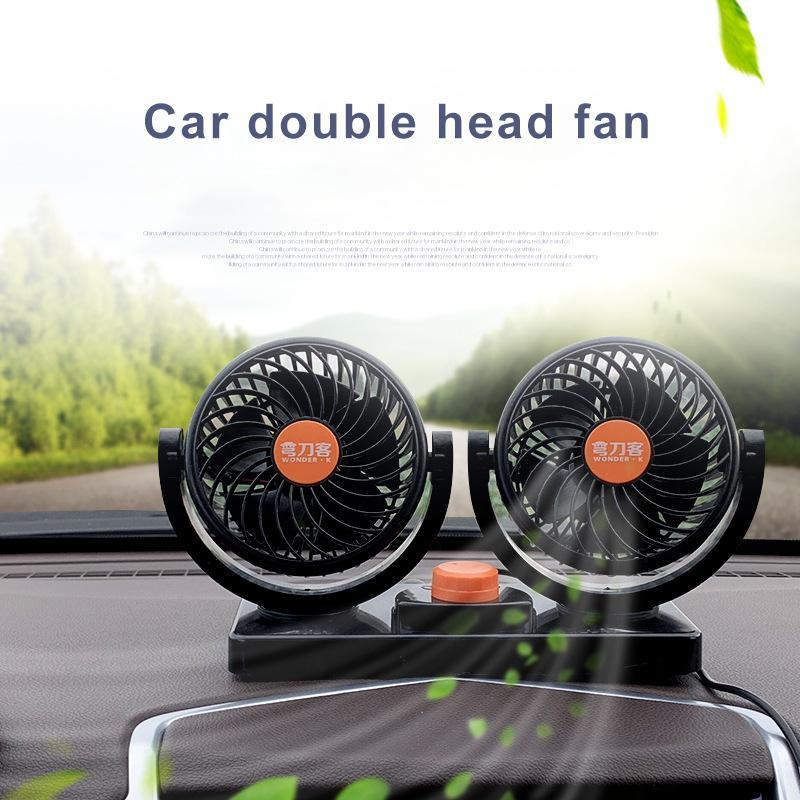 USB caricamento portatile auto elettrico ventilatore Air condizionatore estivo da tavolo da tavolo da tavolo a doppia testa a 360 gradi rotazione muto per auto