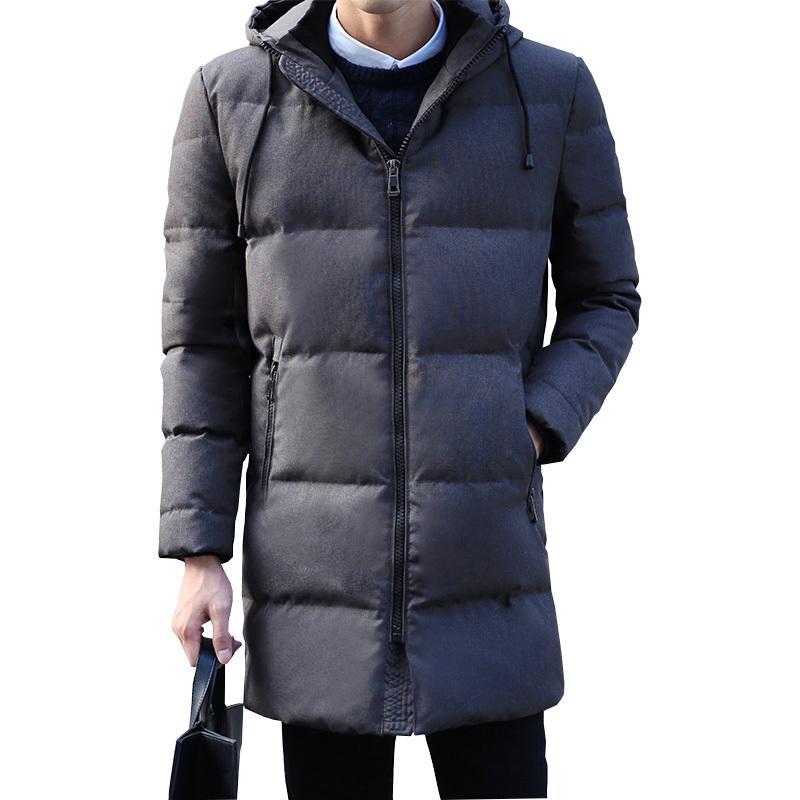 90% White duck down hooded men down jacket men's winter thick warm down jacket overcoat jacket parka men windbreaker coats 201022