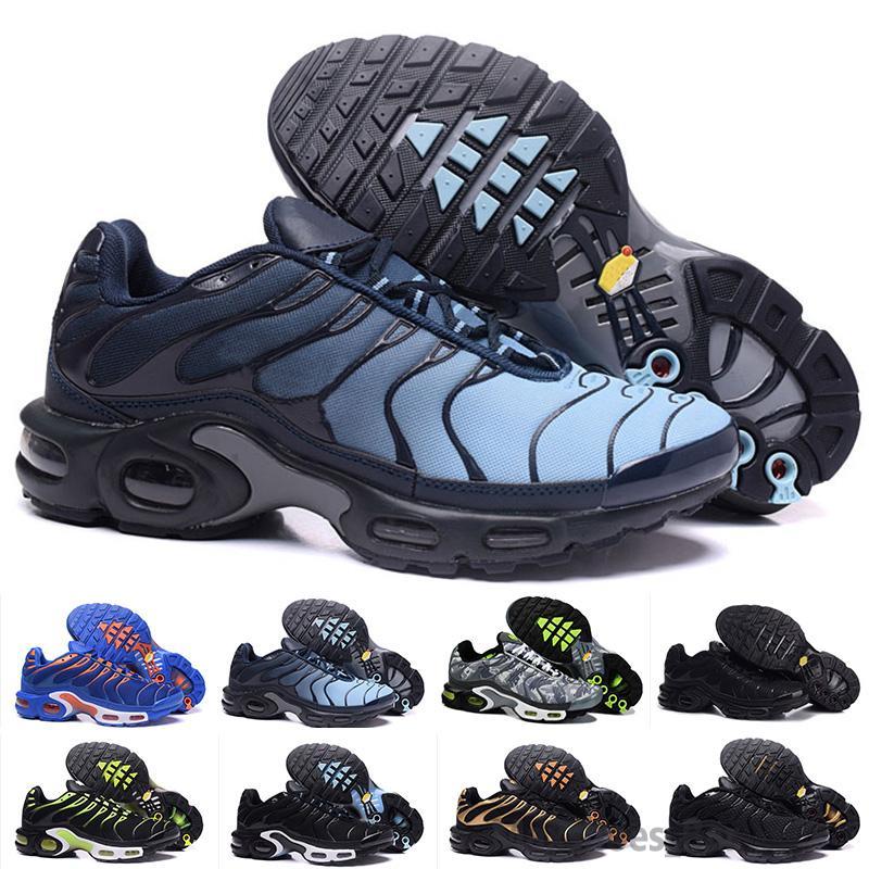 Nike Air Max TN Plus Envío rápido 2018 Top hombre de la calidad del aire TN los zapatos para correr CESTA barato REQUIN malla transpirable CHAUSSURES homme noir Zapatillaes
