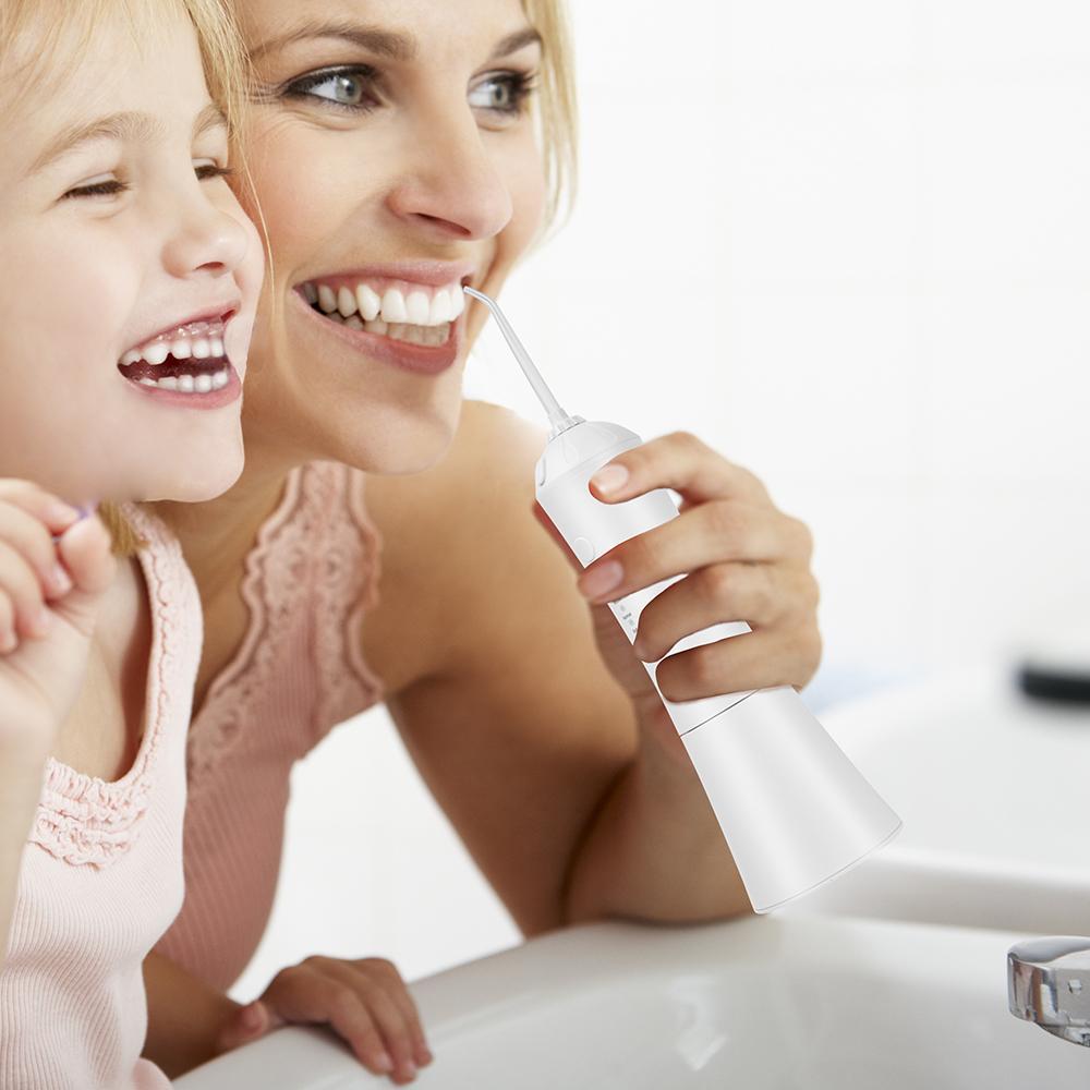 Waterproof IPX7 USB Cordless Dental Water Flosser Portable Water Jet Water Tank Dental Care Teeth Cleaner Cleaning Teeth Hygiene