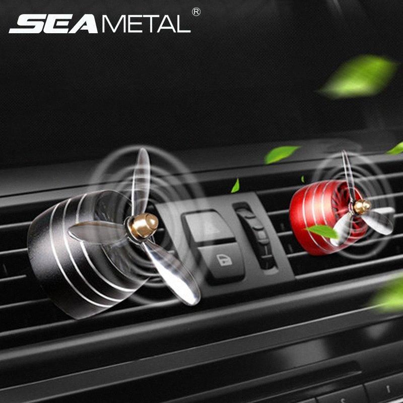SEAMETAL Auto-Duftstoff Diffusor Lufterfrischer LED Ausströmer Clip Automobiles Dekor Propeller Duft riechen Ornament o0xX #
