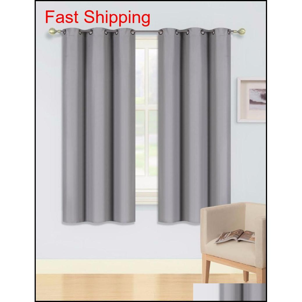 Blackout Curtains Room Darkening Thermal Insulated Grommet Drapes Fo jllrhN yeah2010
