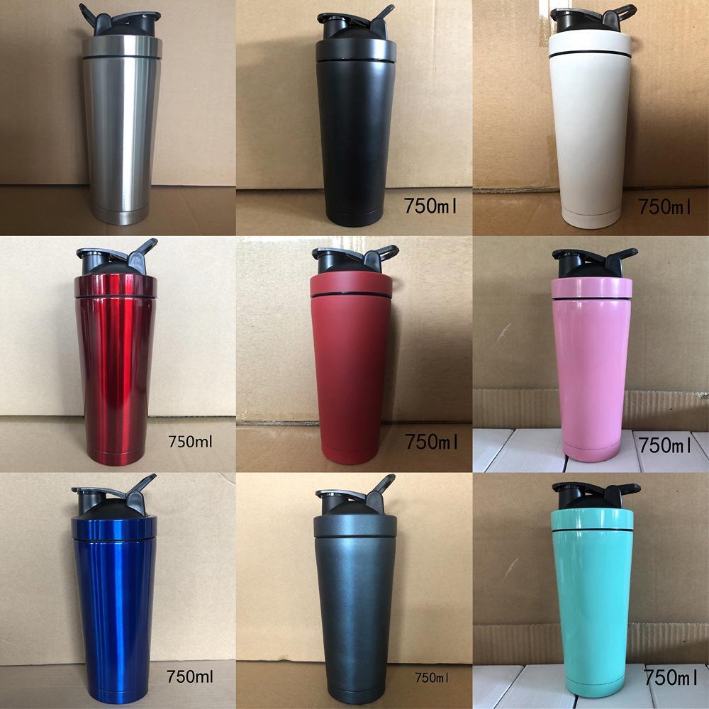 25oz Stainless Steel Straight Tumbler Water Mugs Outdoor Sport Bottle Vacuum Cup 750ml Insulated Tea Mug Tumbler SEA SHIPPING RRA3740