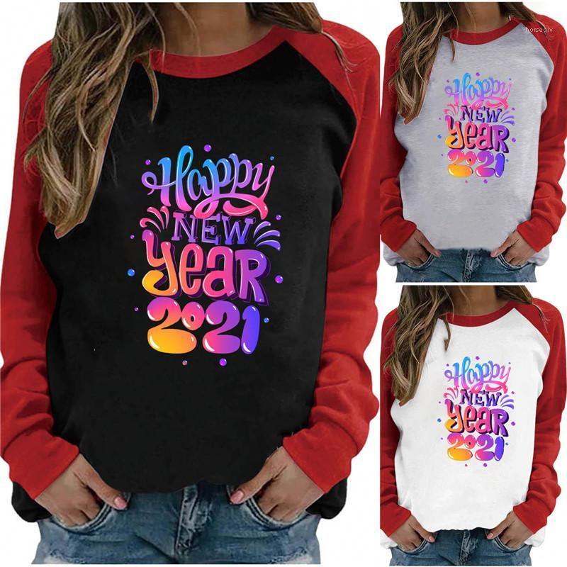 Bayan Tasarımcı Tshirt Uzun Kollu Mektup Baskı Bahar Sonbahar Tees Moda Rahat Kadın Giysileri Tops 2021 Yeni Gelenler