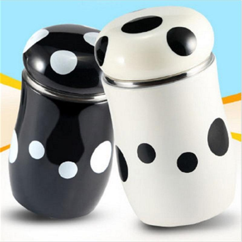 Modelos explosivos de hongos taza de hongos estudiante portátil de acero inoxidable niños creativo mini lindo vientre copa cola botella 28 K2