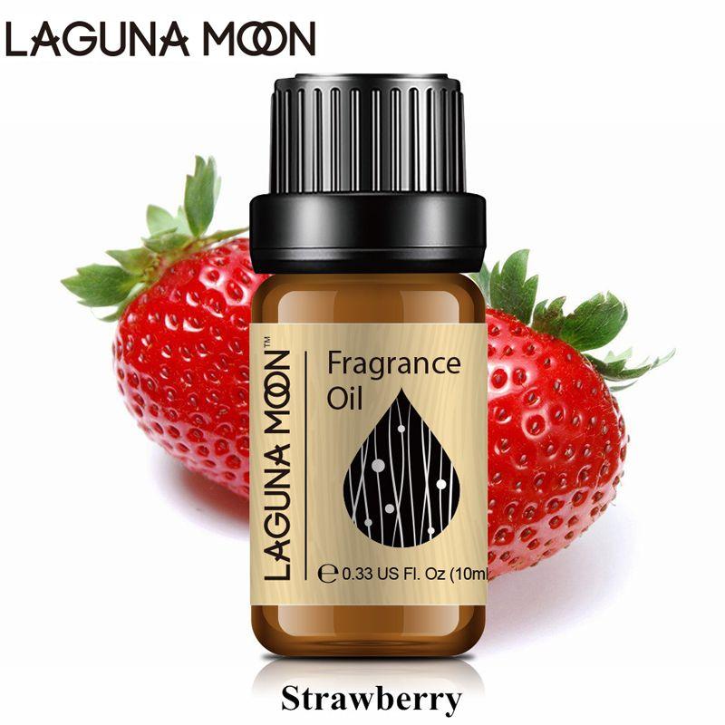Lagunamoon morango 10 ml fragrância óleo baunilha mandarim de parma violeta manga frésia maçã fresca difusores de linho de óleo vela