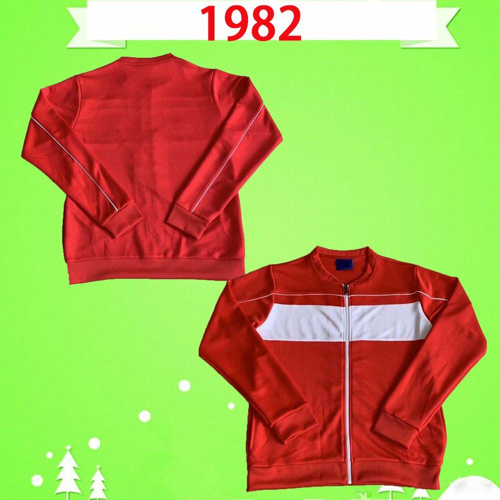 liverpool jersey 1982 Таиланд качества костюма RUSH беговых костюмов ДЖОНСТОН УОЛШ РЕТРО футбол Джерси марочные футбол рубашка дом красной тренировка куртка износ