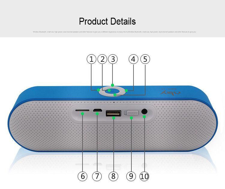2020 شعبية جديدة NBY-18 مصغرة بلوتوث المتكلم المحمولة سماعات لاسلكية نظام الصوت 3D ستيريو الموسيقى المحيطية دعم بلوتوث، TF aux USB