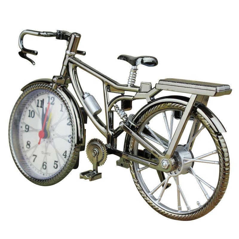 ريترو دراجة شكل المنبه طالب الأسرة أزياء المعادن الجدول الساعات تأثيث المنزل الديكور شحن مجاني 6 5YL J2