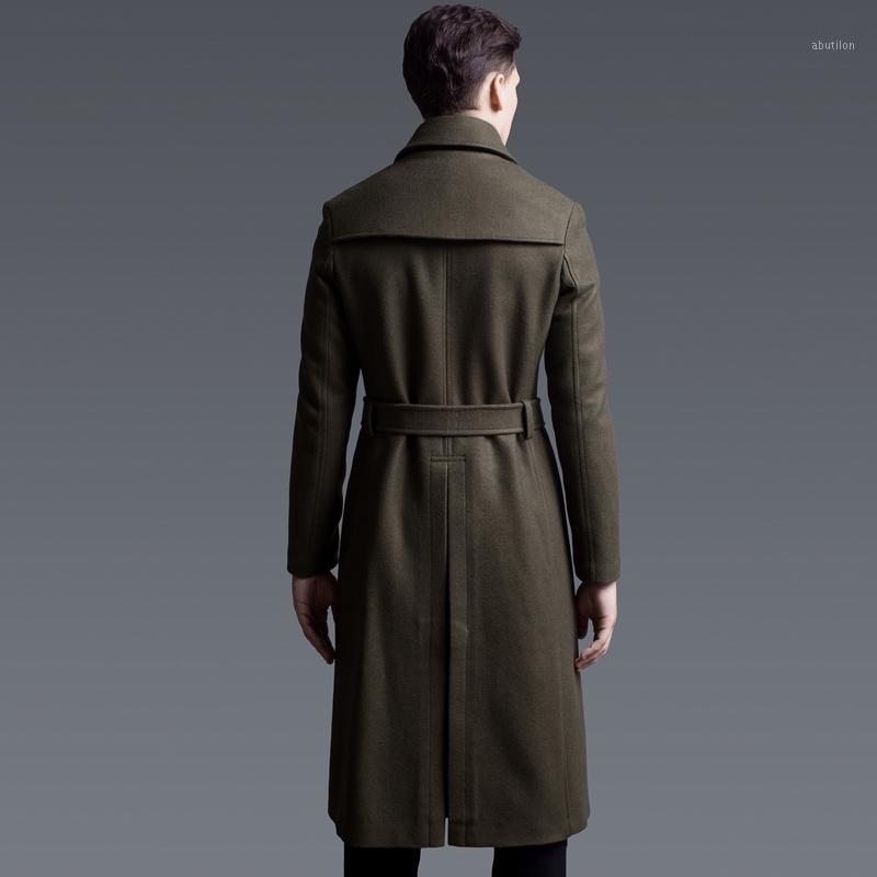 Мужская шерстяная смесь 2021 мода мужская пальто европейский бренд одежда с двубортными горохими пальто для мужчин плюс размер 6xl Enterwear LX7751