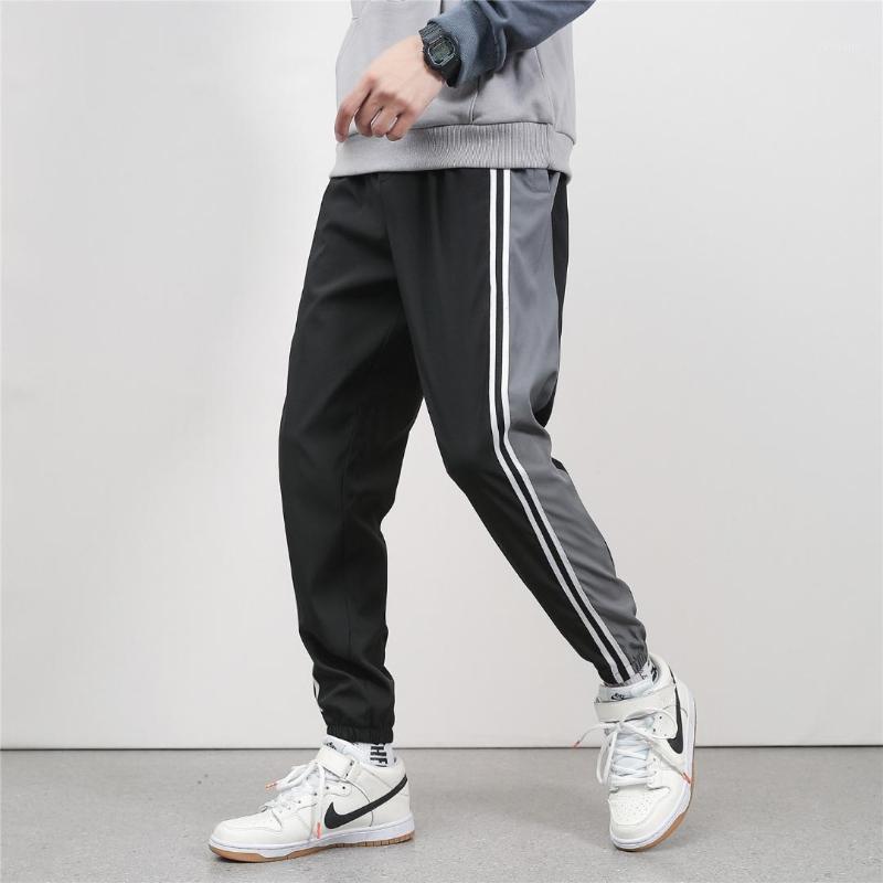 Pantaloni casual da uomo Pants Pantaloni casual da uomo a strisce a strisce di colore Autunno Mens Joggers Ankle-lunghezza allentato fashion papants maschio1