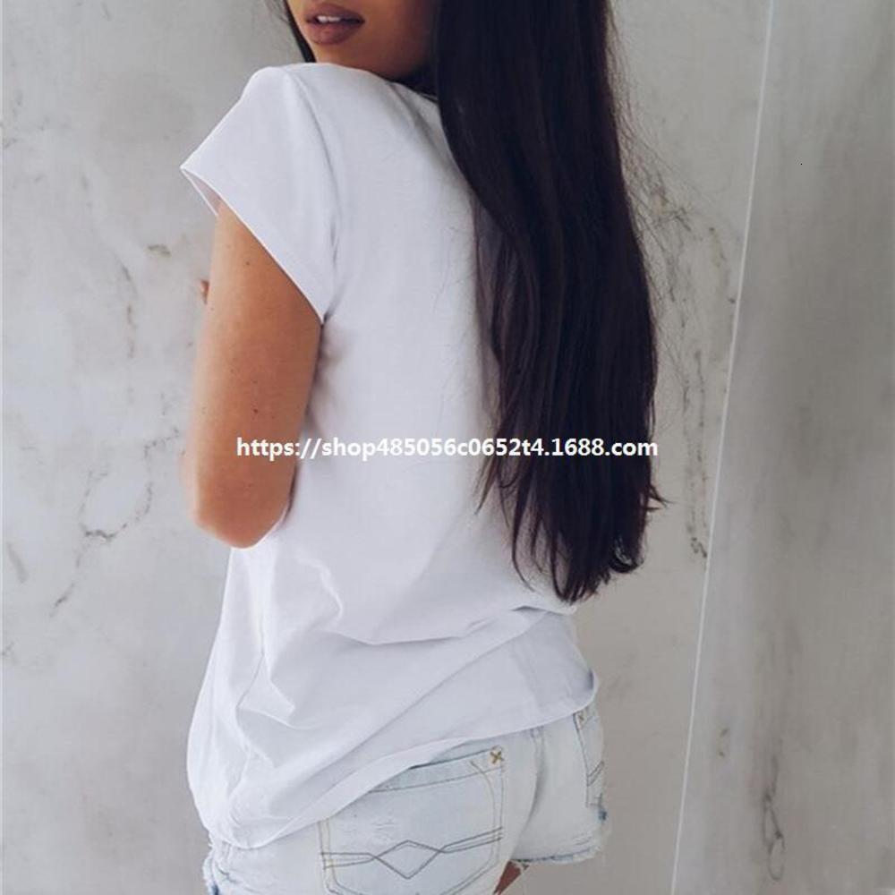 Calle moda casual vogue carta dorado imprimido manga corta camiseta versátil básico básico de las mujeres de verano