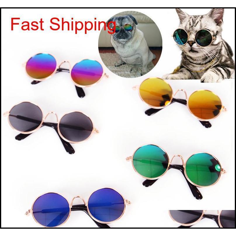 사랑스러운 고양이 안경 강아지 안경 작은 고양이 강아지 눈 착용 개 선글라스 사진 QYLBTS BDESPORTS