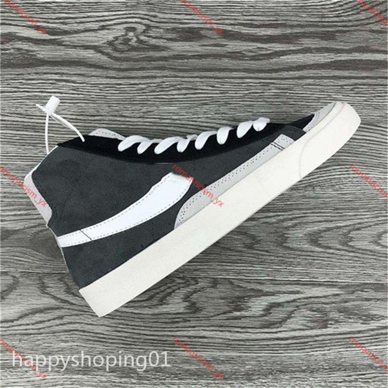 2021 Nuovo Arrivo Blazer Mid Vintage Scarpe da corsa per uomo di alta qualità Donne Black Bianco Elevato Aiuto Aiuto Sneakers Dimensioni 36-46