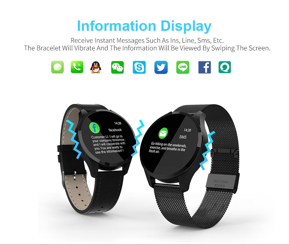 Q9 водонепроницаемый Смарт Фитнес Трек Часы браслет Напоминание SmartWatch Мужчины Heart Rate Monitor Tracker для Android IOS VS L8 Q8