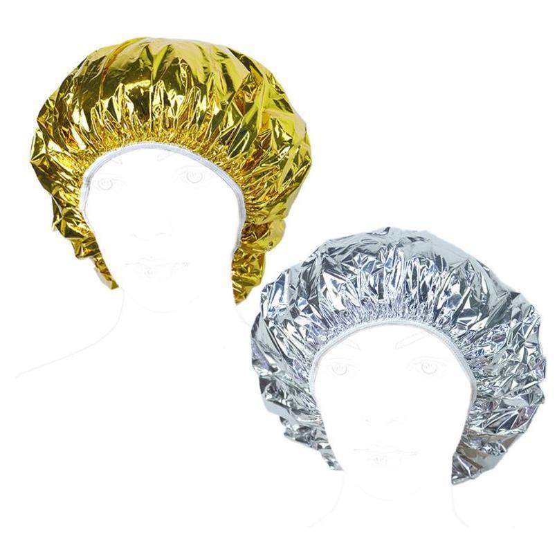 Salonöl BBYVBU Ultradünne Nahrungsbad Kappe Tragbare Kappe Dry H Dusche Einweg Wasserdichte Backen Haar Aluminiumfolie Gltps