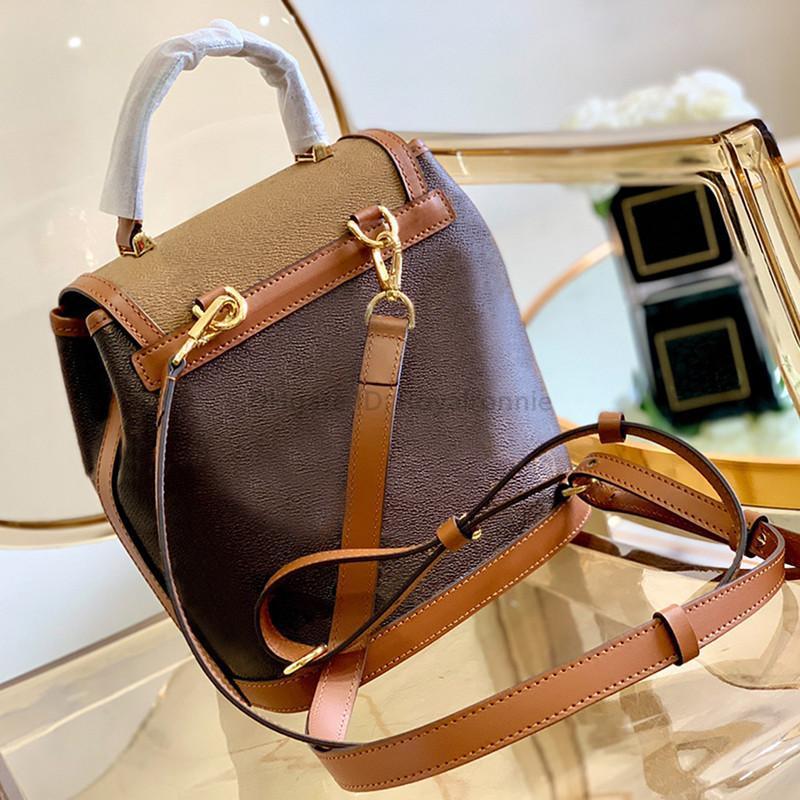 2021 5A Les meilleurs designeurs de luxurys fourre-tout Sacs Mode Femme Sac à dos Sac imprimé Sac à main Sac de godets Véritable cuir véritable sac à bandoulière