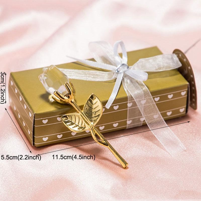 Romantic Wedding Valentines Day Gifts Multicolor Crystal Rose Favors Colorful Box Party Favors Creative Souvenir Ornaments PPD3872
