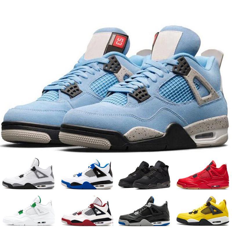 2021 Fire Rouge 4S 4 Chaussures de basketball pour hommes Femmes University Raptors Blue Raptors 2019 Breed Sneakers Mens Formateur Sport Chaussures