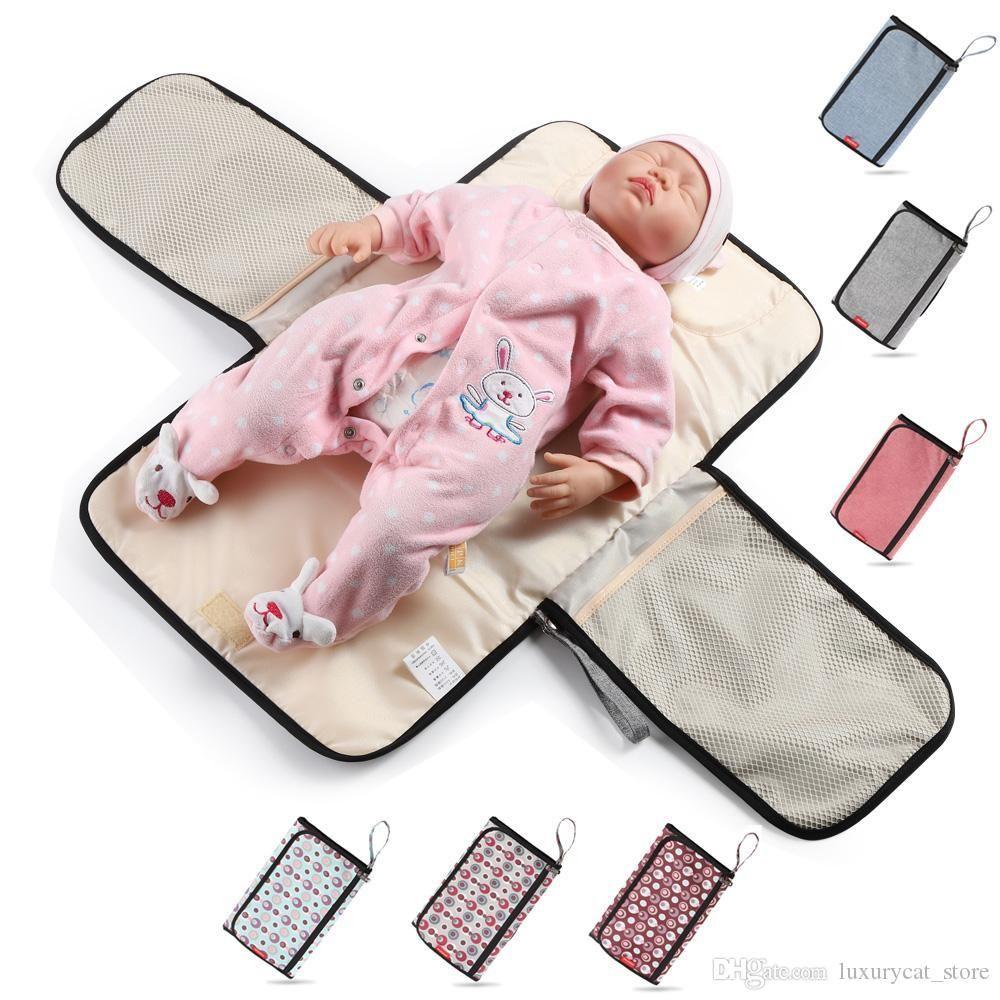 Wodoodporna torba na pieluchy dla opieki nad dziećmi Mat Baby Organizator Torby dla Mamy Przenośna pielucha Mommy torba ciążowa 1 pc