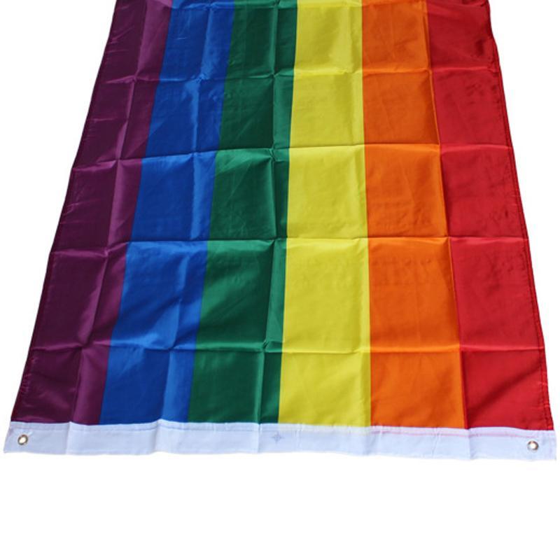 قوس قزح راية العلم 3x5FT 90x150cm المثليين العلم البوليستر راية قوس قزح ملون LGBT العلم مثليه موكب أعلام الديكور AAF2776