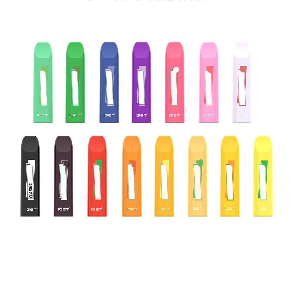 Authenti Iget Janna Einweg Zigaretten Pod Gerät 280mAh 1.6ml 450 Puffs Vape Stick Pen 16 Farben Option 100% EciG Kit
