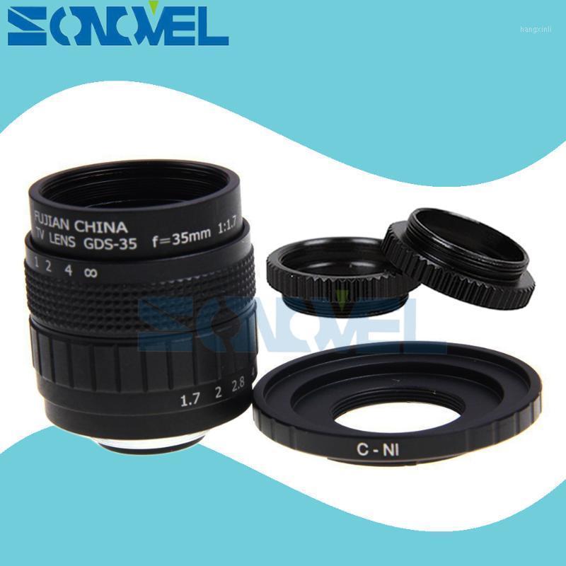 Fujian 35 мм F1.7 CCTV TV TV TV TV TV + C Maint + Macro Ring для Nikon 1 AW1 S2 J4 J3 J2 J1 V3 V2 V1 C-Ni C-Nikon 11