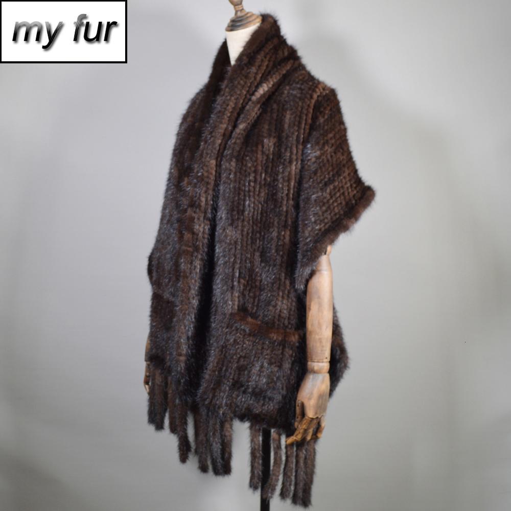 Nouvelle écharpe vison naturel robe d'hiver, écharpe de vison naturel pour les femmes, portant le foulard de vison royal pour les femmes