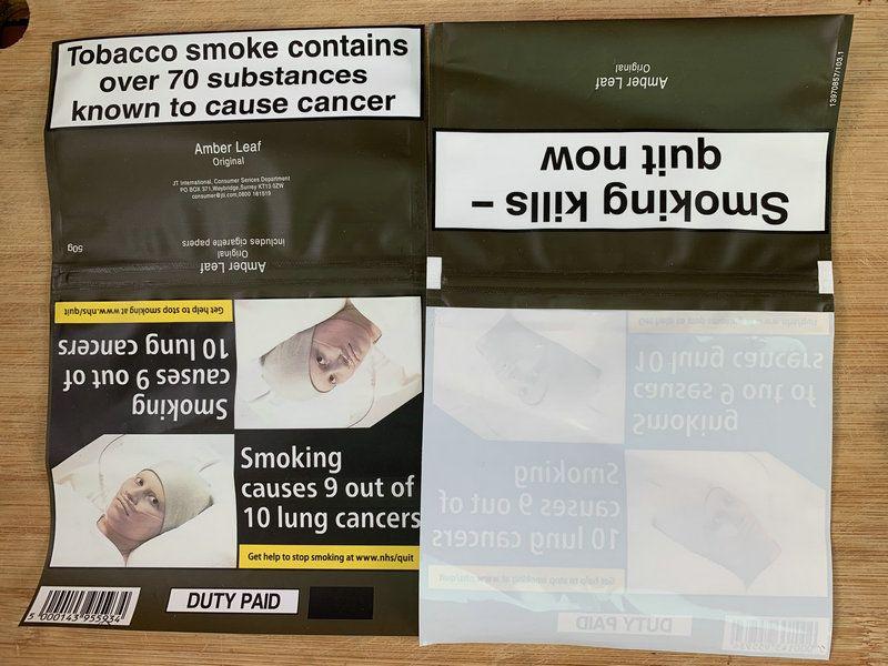 Fábrica de cigarrillos por mayor caja de fumar tabaco ámbar Hoja de envases cajas de cigarrillo de tabaco 500g = 10packs colección boxeadores de plástico tabaco
