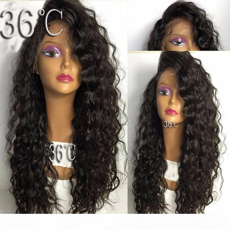 PAFF Curly Spitze-Front-Menschenhaar-Perücke brasilianische Remy Haar-natürliche Farbe für Frauen mit Baby-Haare Pre Zupforchester