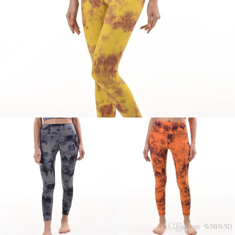 2ODC Lu-Sólido Color Pantalón Yoga Yoga Alto Cintura deportiva Gimnasio Desgaste Leggings Elástico Pantalones Verdes Mujeres Fitness Lady General Mallas Completas