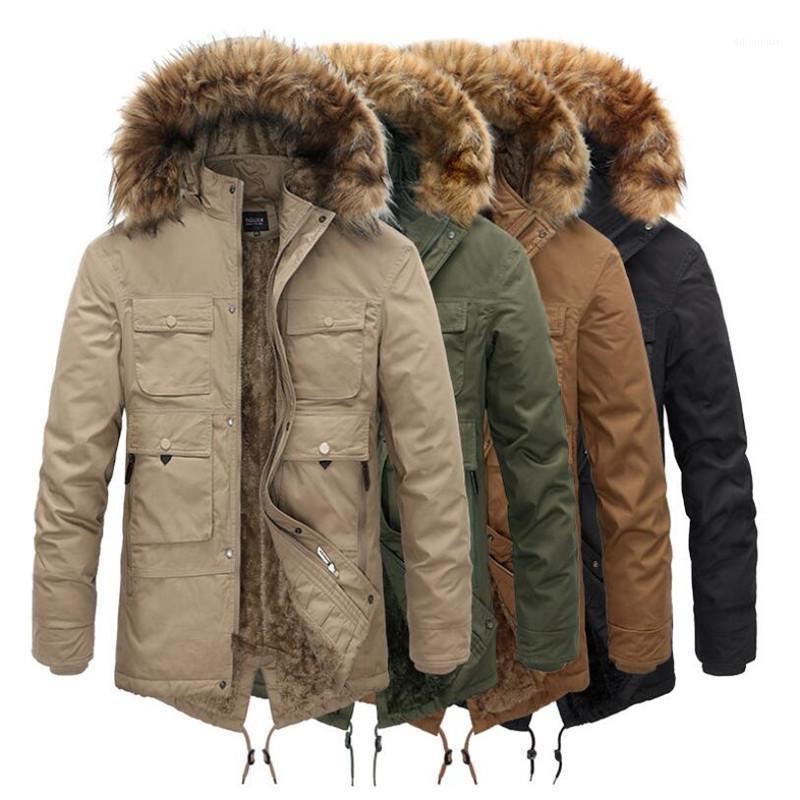الشتاء ستر الرجال windbreak زائد المخملية سميكة الدافئة السترات عارضة الصوف مقنع سستة معاطف الذكور الشتاء هوديي ستر الأزياء 1