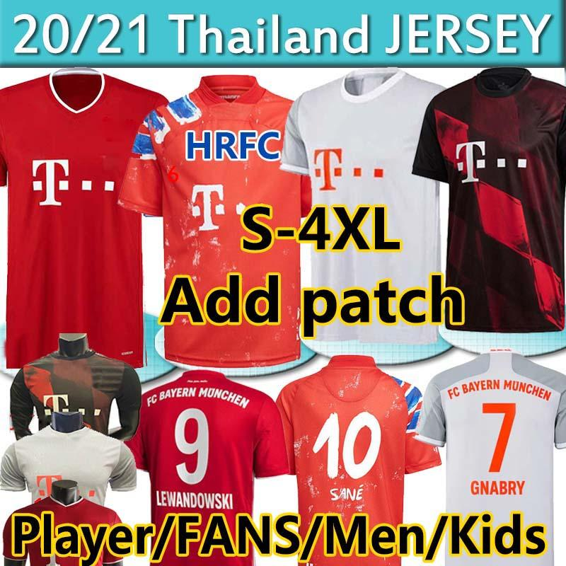 S-4XL Player Munich Human 2020 21 Race Sané Fans Soccer Jerseys Lewandowski Davies Muller Gnabry Munchen Men Kit Kit Camicie da calcio Top