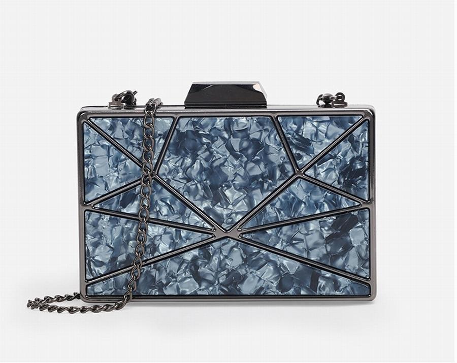 2020 Borse di moda in metallo in metallo basso in acrilico della catena della catena della catena del profilo del sacchetto della mano di lusso della borsa della sera LNBTP