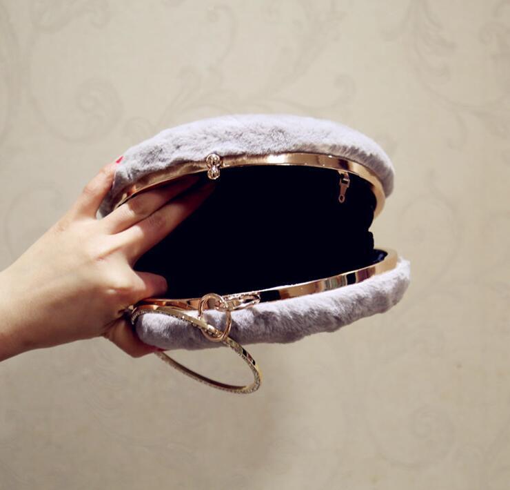 Borsa da sera delle signore brillanti di modo della borsa delle donne di modo della frizione della catena B5 di lusso di lusso con le borse del partito nuziale DHHLE