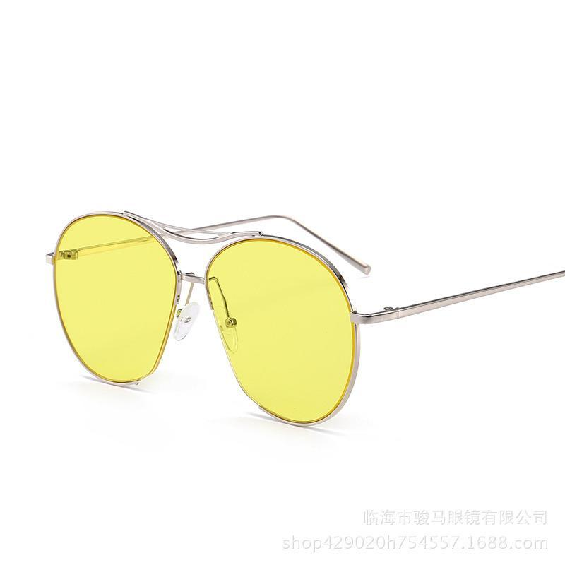 Quadro de liga total Óculos de proteção mulheres óculos de sol homens vintage retro meia rodada semi semi aro cor de oceano sol óculos design