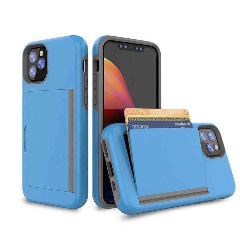 2 em 1 Telefone capa para iphone 12 Moda Virar iPhone Capa Para Pluggable Cartão Anti-queda Voltar 11 Pro Max XR 8 7