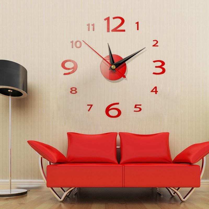 2020 Orologio nuovo della vigilanza della parete 3D orologi di parete della decorazione della casa 3D adesivi murali Pecial Living Room Home Accessori Decoration