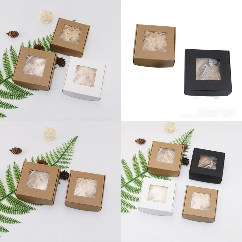 أضعاف كرافت ورقة مربع الرموش الصناعية الصابون تغليف الحاويات مجوهرات الدائري المنظم diy اليدوية شخصية نافذة شفافة 1xy d2
