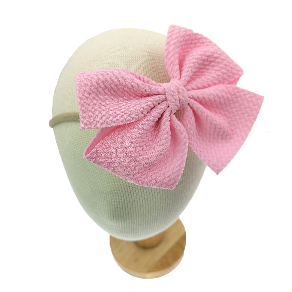 100pcs Baby Girls Bow Headbands 30 Colors Available Turban Elasticity Hair Accessories Fashion Kids Hair Bow Boutique Bow-knot Hair Bands
