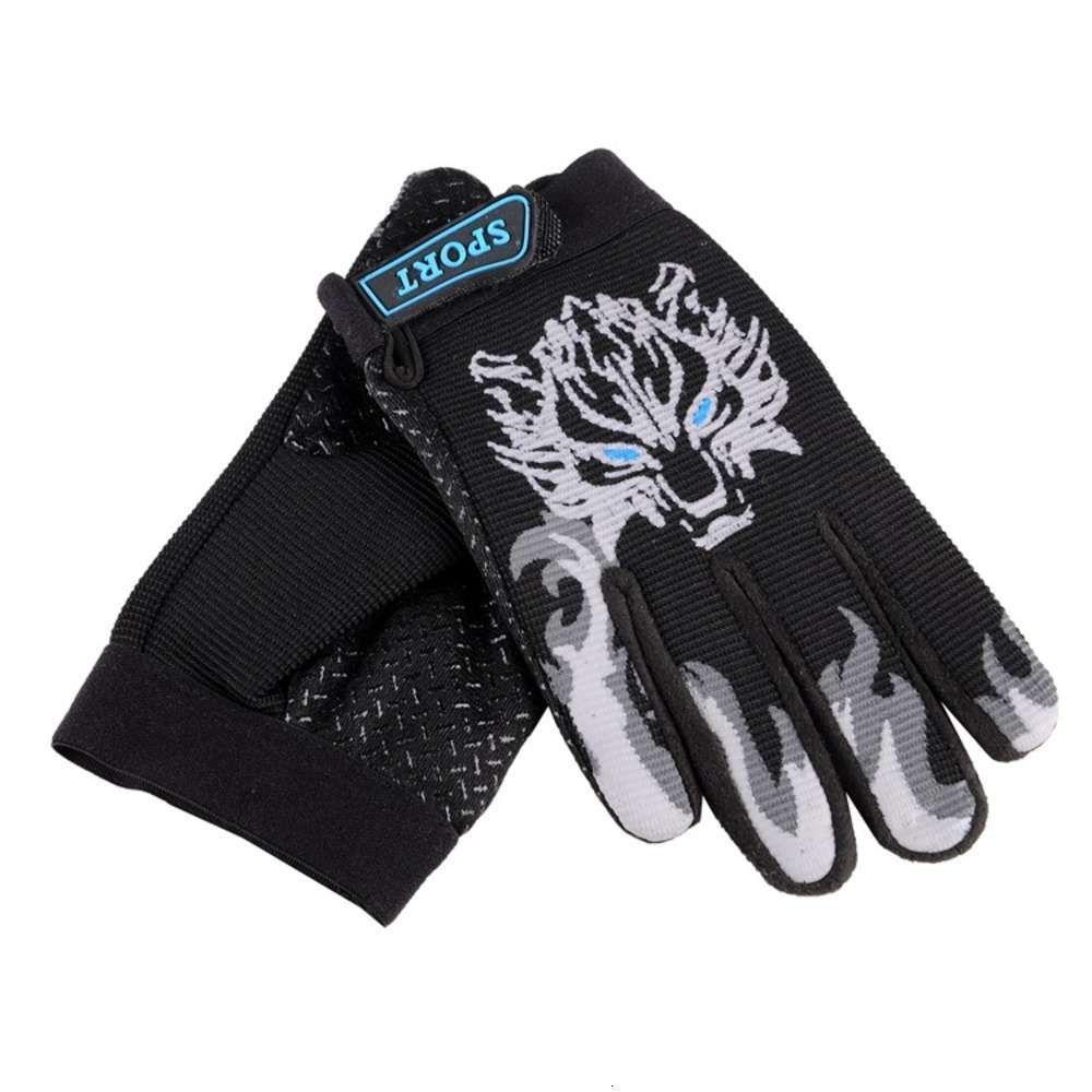 Creative new autumn and winter children's sports full finger warm anti slip Plush outdoor riding gloves