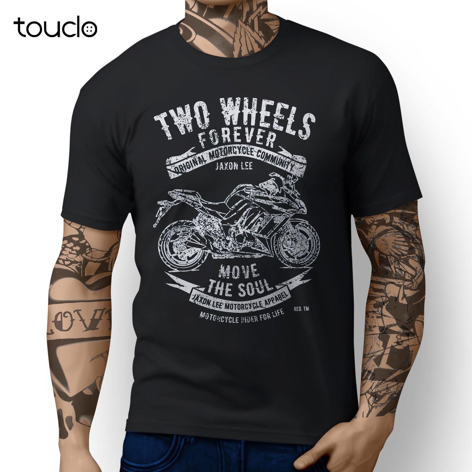 Neue hochwertige lässige Druck T-Stück Japanisch Klassisches Motorrad Z1000sx Inspired Motorrad Art Design T-Shirts X1227