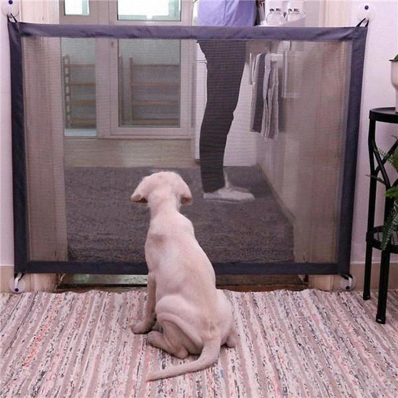 Pet Barreira portátil Folding respirável malha Net Guard Seguro Cerca Indoor e da Protecção exterior Segurança Dog cerca de proteção ip1l #