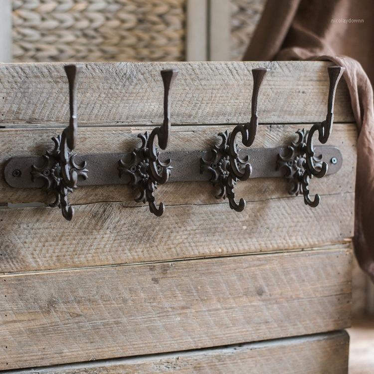Крючки Rails Vintage дизайн чугун настенный крюк декор металлов ROCOCO органайзер дверное устройство удобное удобство обуви Handcraft аксессуары1