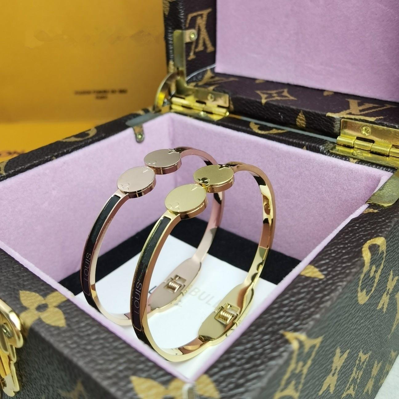 L Presbyopie Armband nimmt hohe Qualität aus weichem Kalbsleder 18k vergoldet Material modische klassische Armband