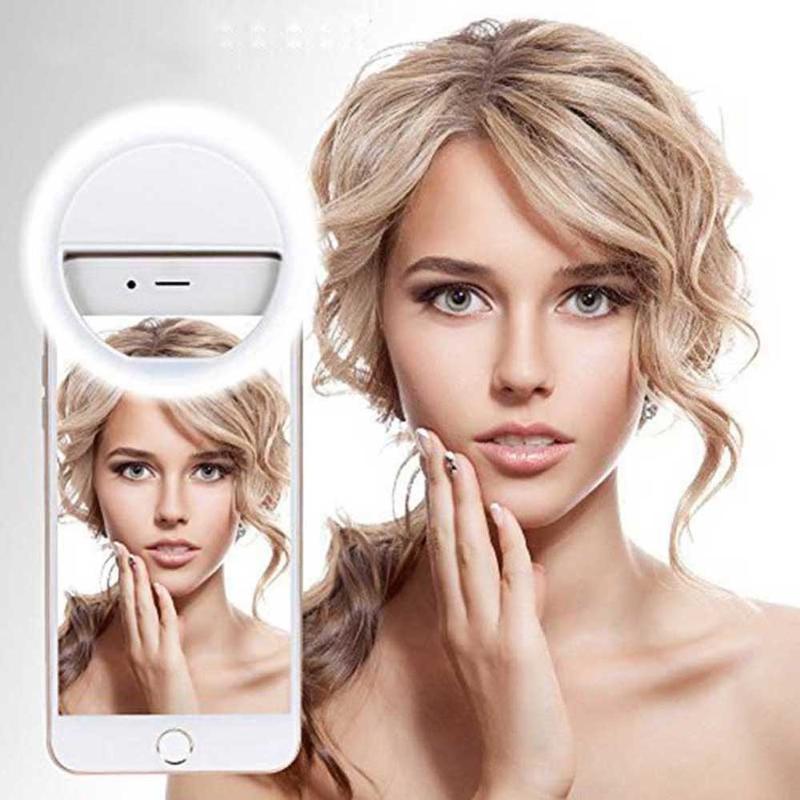 LED Ring Light For Mobile Phone Video, USB Charge Lighting Selfie Enhancing Ring Lamp Ringlight For YouTube /Photography