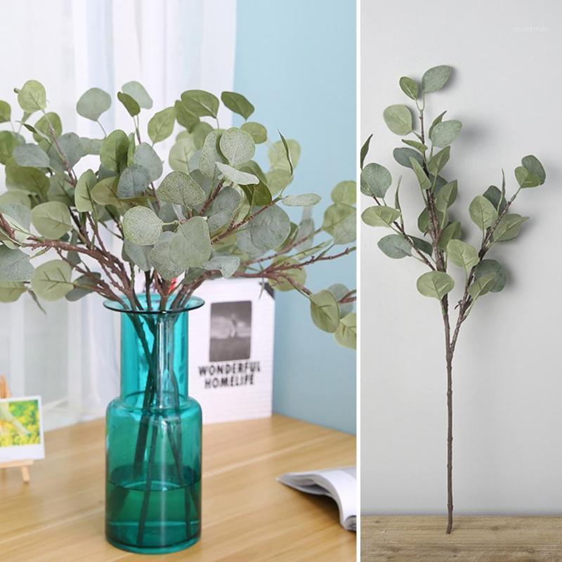 ARTICOLO! 1 PZ FAKE Eucalypto Greenery Office Decor Office Decor Green Plant FAI DA TE Bouquet da sposa GIOVANE GIOVANE Verde artificiale per matrimoni1