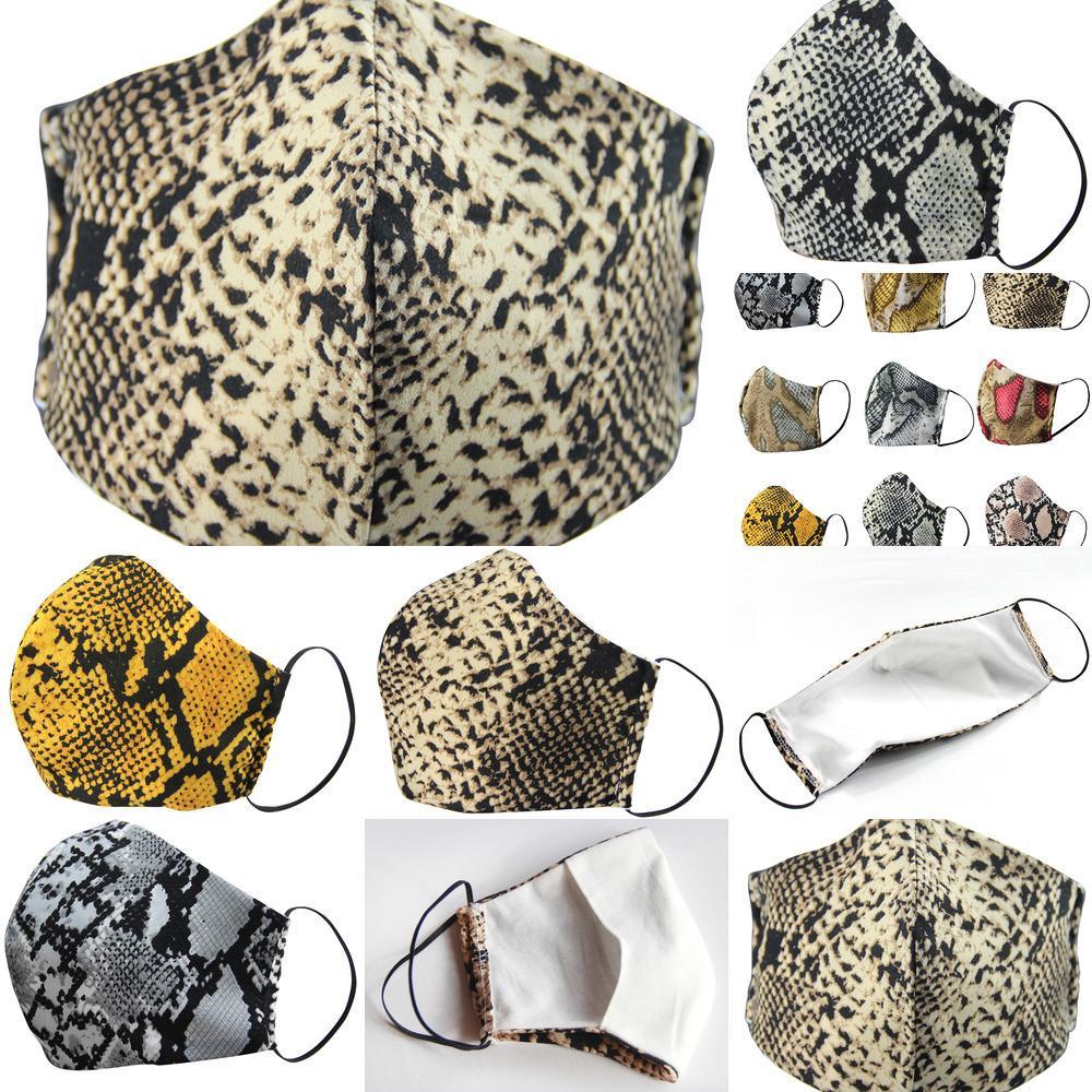 Respirador Moda Leopardo Estampado Face Masks Diseñador Dustapeso Aparato Máscara Lavable Montar Ciclismo Hombres Y Mujeres Al Aire Libre Deportes Impresión Boca MAZ
