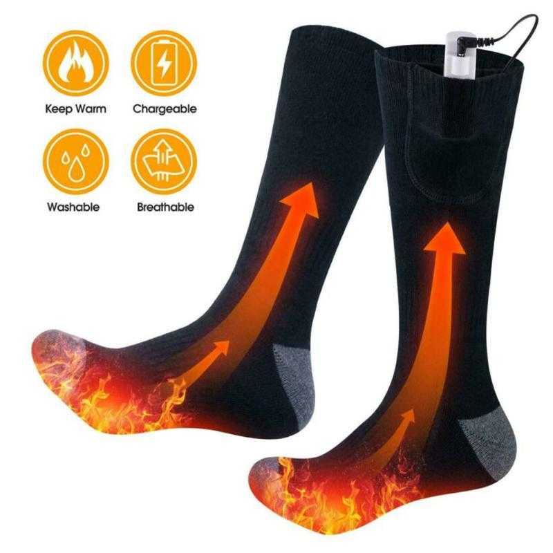 Unisex Winter Warme Elektrische Heizsocken Wiederaufladbare Batterie Outdoor Camping Wandern Klettern Komfortable Wärmeheizung Socken