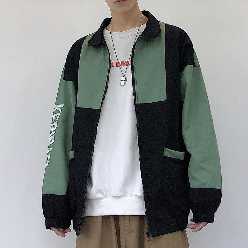 2020 الخريف والشتاء نمط جديد MEN'S شباب سترة قمم عارضة الأزياء وسيم المشتركة للرجال ملابس الموضة الطلاب على غرار كوريا